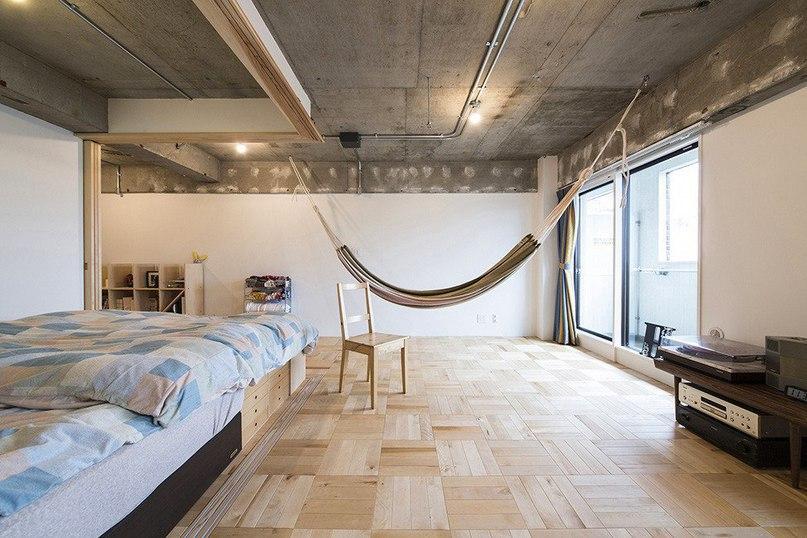 Жилое пространство в Японии  Проект Tsukiji Room H