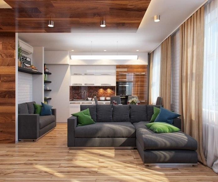 Проект маленькой квартиры-студии 30 кв.