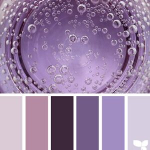 Сочетание фиолетовых оттенков