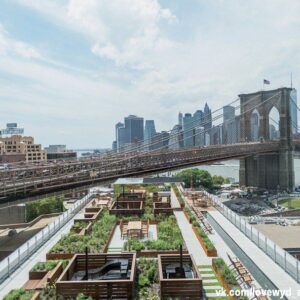 located at the center of brooklyn's DUMBO neighborhood, 60 water is a 17-storey apartment building designed by leeser architecture and developed by two trees management